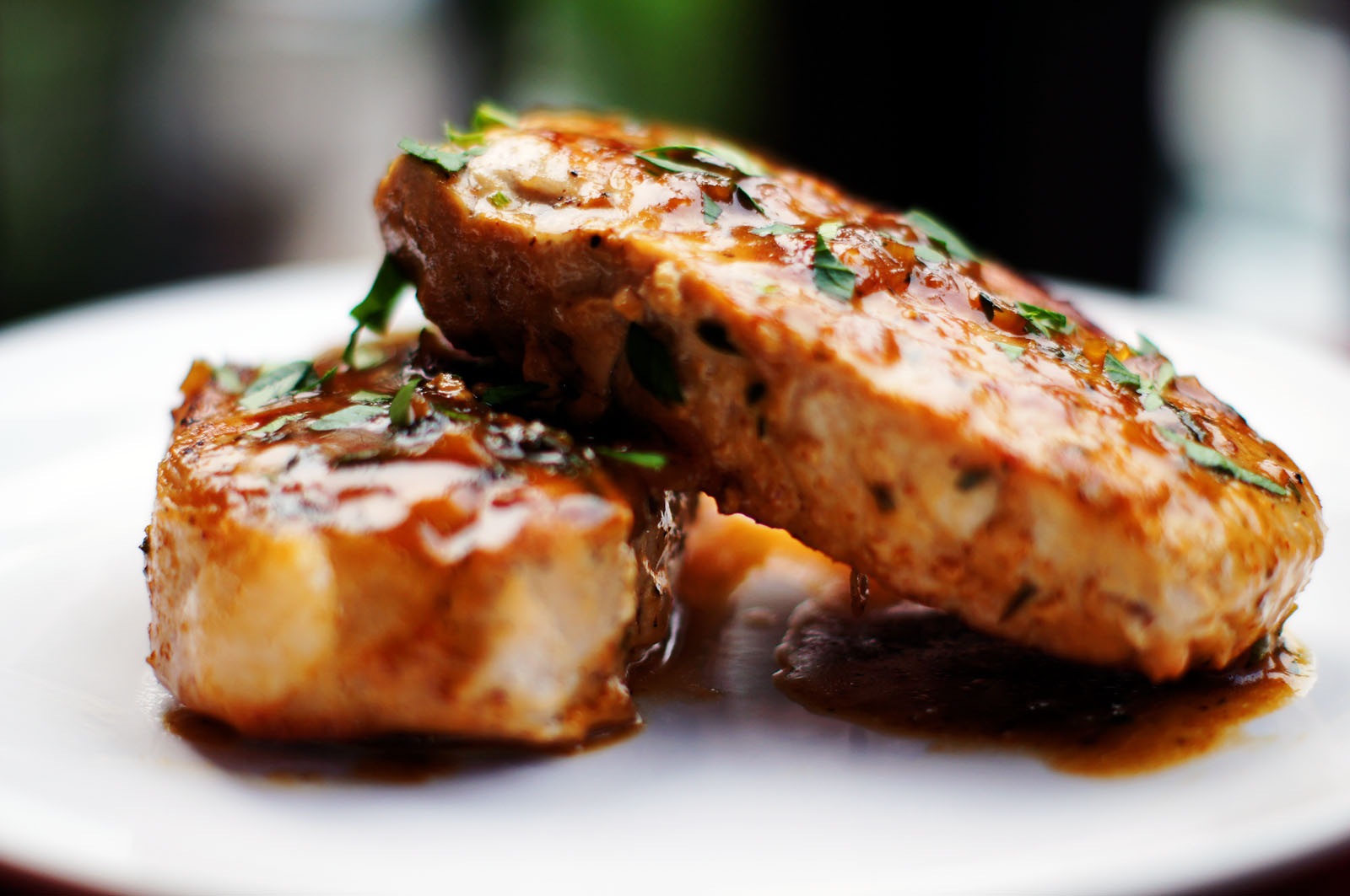 Maple Black Pepper Pork Chops Recipe — Dishmaps